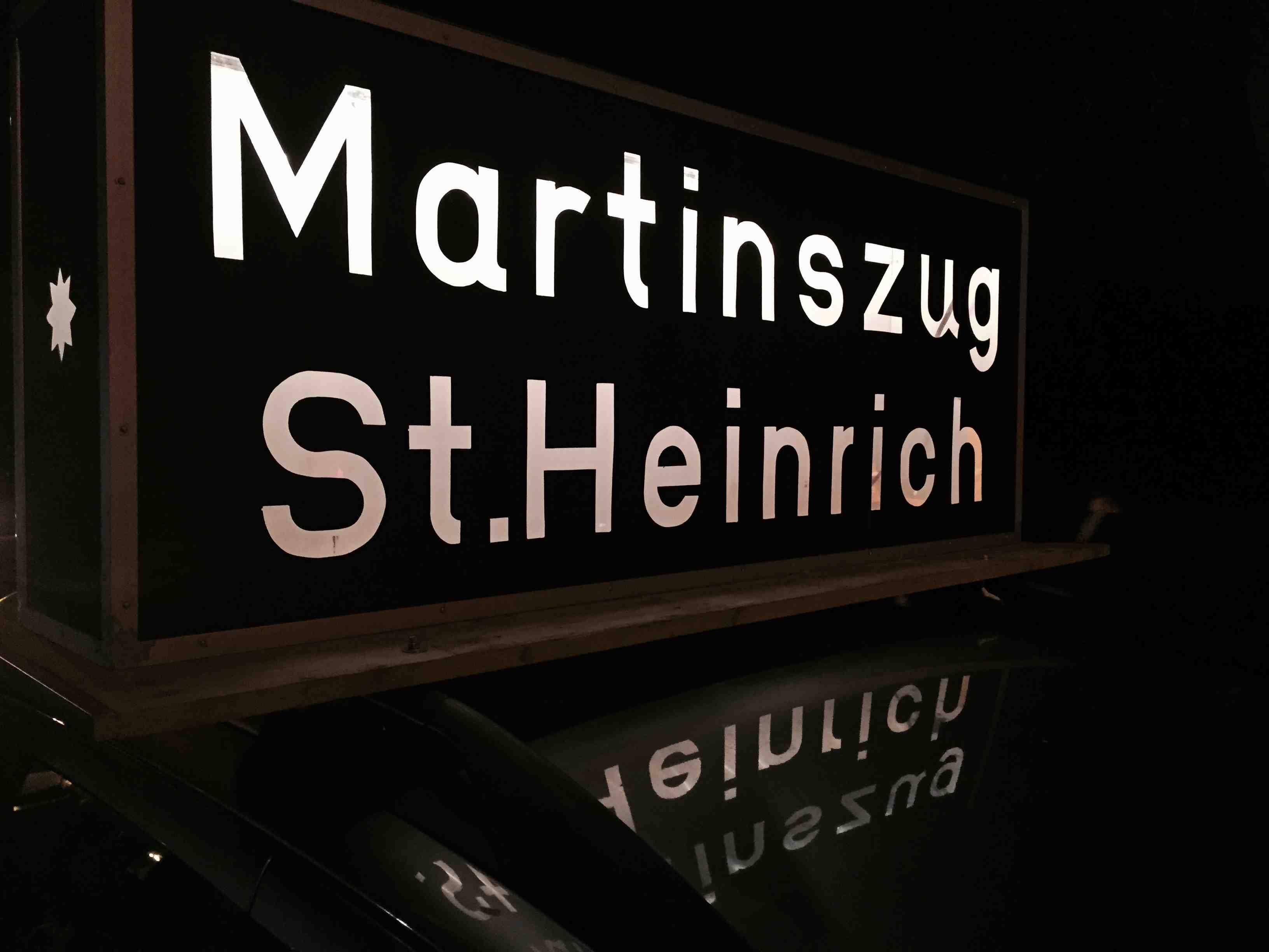 St.Martinsumzug-Schild